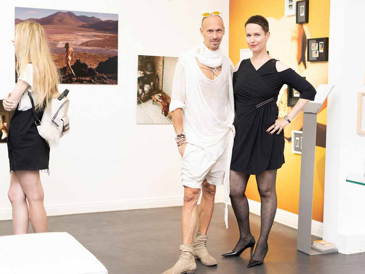 With Designer Thoas Lindner at the exhibition Corpus Delicti, The Ballery