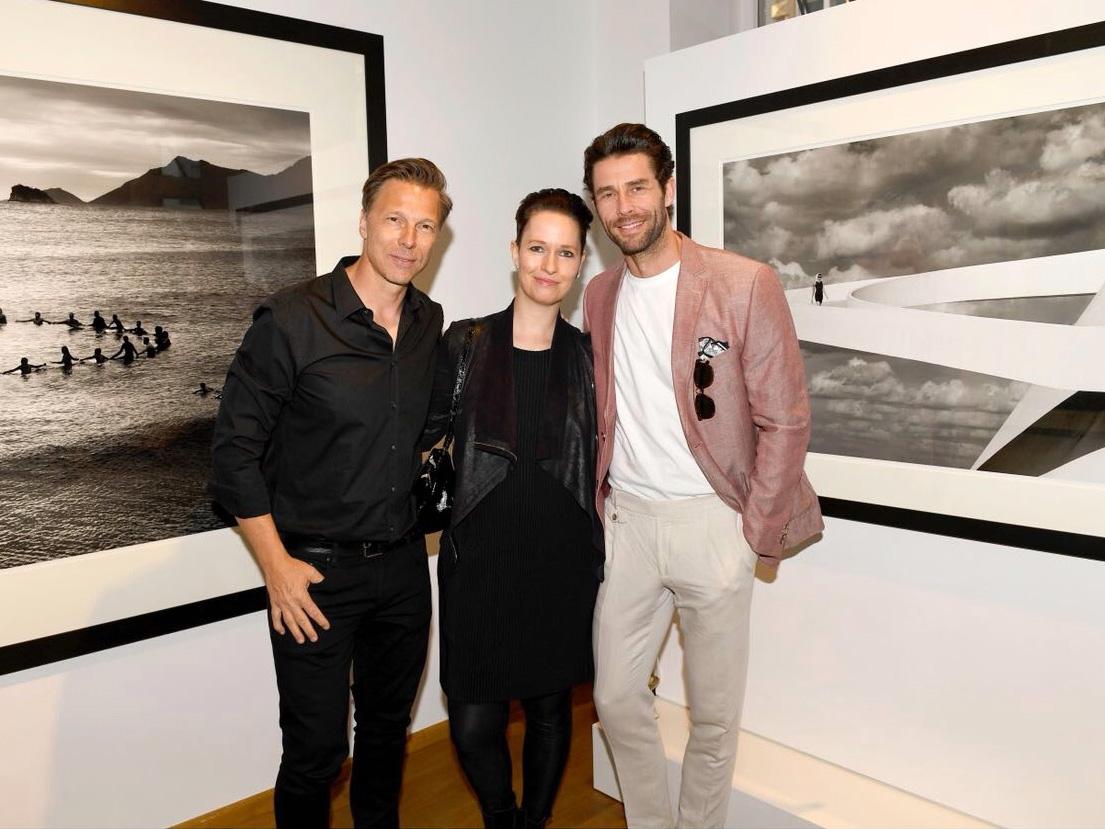 Mit Fotograf Olaf Heine und Model Maik Eichhorn, Galerie IMMAGIS