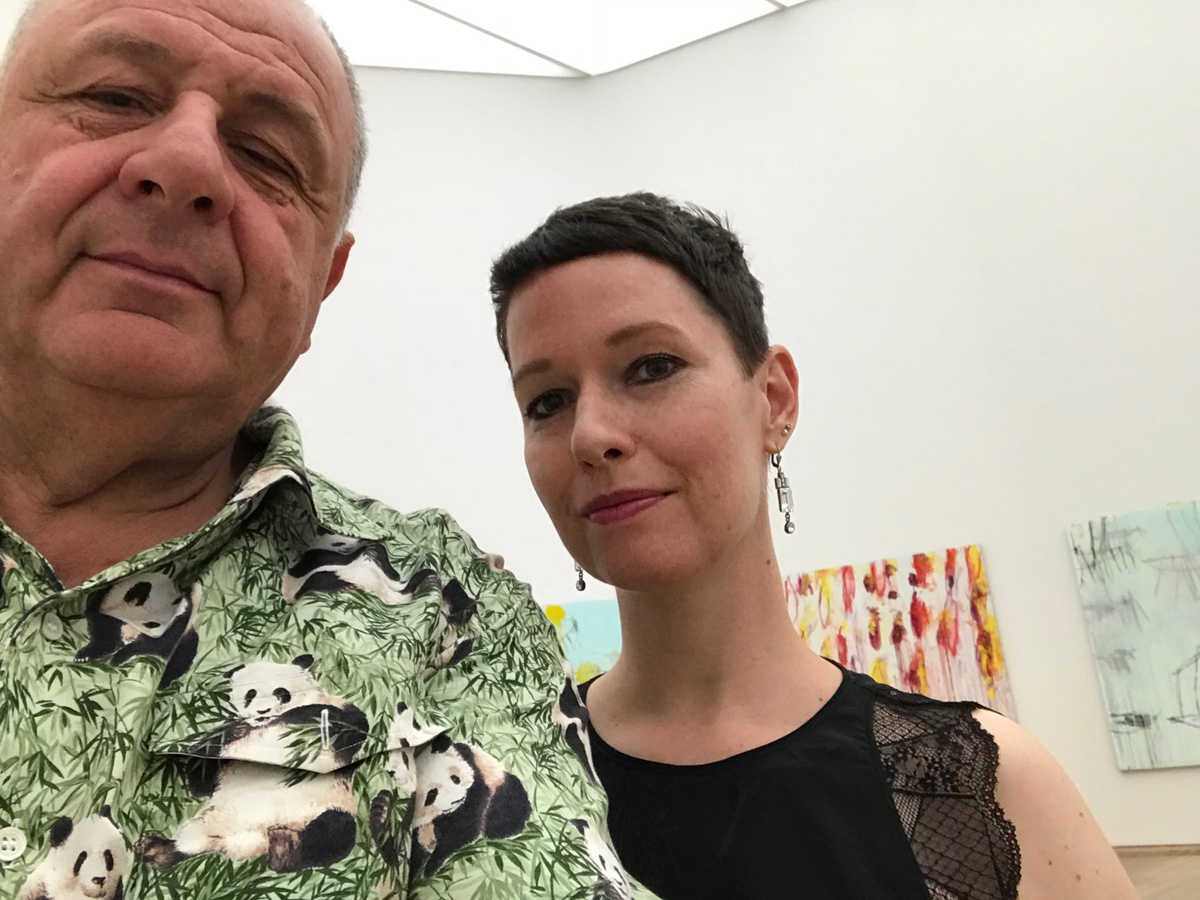 With Jean Pigozzi the Brandhorst Collection, Munich