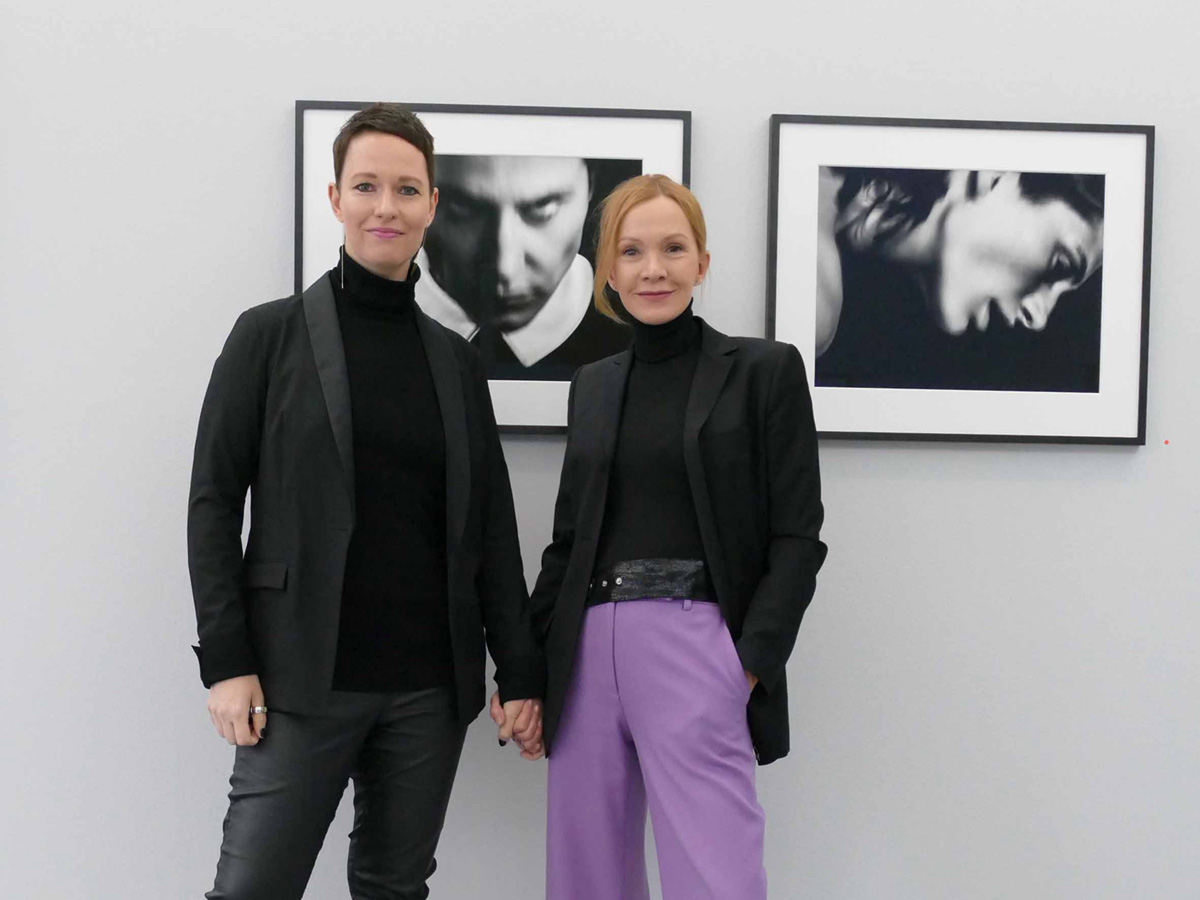 With photographer Katja Flint, Galerie Semjon Contemporary, Berlin