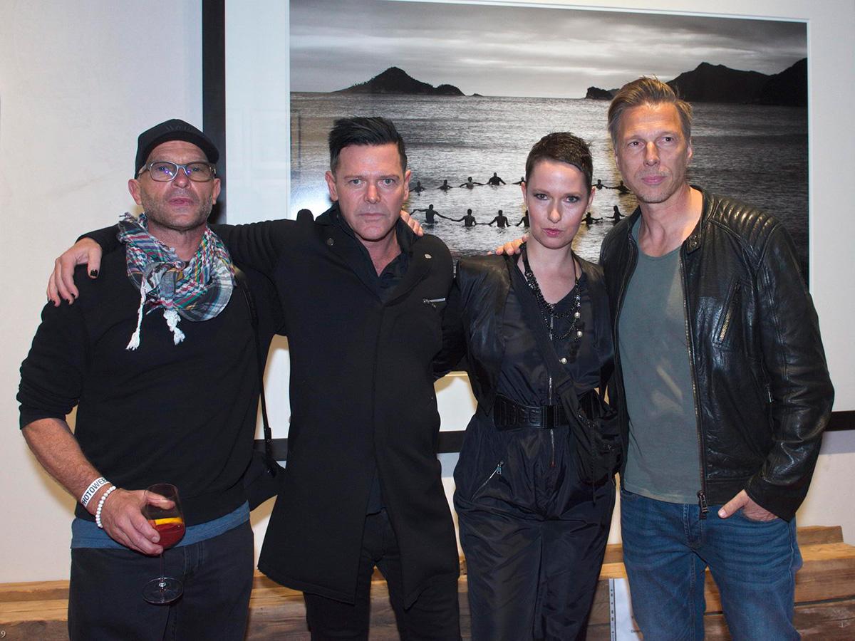 Mit Thomas Kretschmann, Richard Kruspe und Olaf Heine, Chaussee36